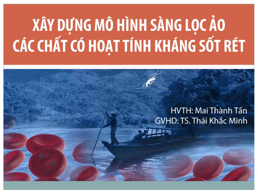 Xay dung mo hinh sang loc ao cac chat co hoat tinh khang sot ret